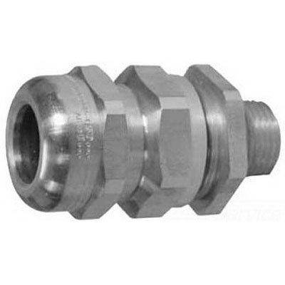 Appleton TMC050A Type TMC Connector 1/2 Inch NPT 0.550 - 0.787 Inch Cable Jacket 0.510 - 0.669 Inch End Stop Out Cable Armor Copper-Free Aluminum