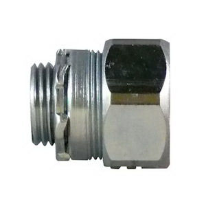 Appleton NTC-150 Concretetight Threadless IMC Compression Connector; 1 - 1/2 Inch, Malleable Iron, Compression x MNPT