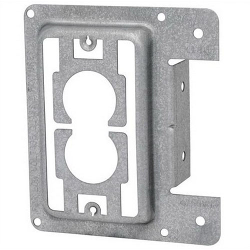 Erico MP1S 1-Gang Mounting Bracket Clip; 4 Inch Width x 4.500 Inch Height, Flush Mount