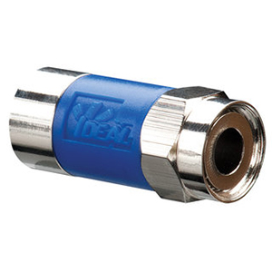 Ideal 89-042 NJX™ RG6 Quad Compression F-Connector; Brass, Nickel-Plated