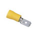 Ideal 83-9991 Vinyl Insulated Male Terminal Disconnect; 12-10 AWG, Brass