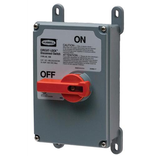 Hubbell Wiring Hblds3nk Circuit Lock 174 Non Metallic Non