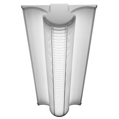 Lithonia Lighting / Acuity AVSM 2 32 MDR DLS MVOLT GEB10IS 2-Light Fluorescent Strip Fixture; 32 Watt, 120 - 277 Volt, Steel, White Polyester Powder-Coated, Surface/Suspended Mount