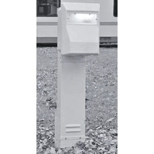 Midwest U011CP4010 Unmetered Recreational Vehicle Park Equipment/Meter Power Outlet ; 70 Amp, 120/240 Volt, Pedestal Mount