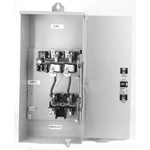 Midwest GS1201B20UL GS Series Non-Fusible Transfer Switch; 200/100 Amp, 120/240 Volt AC, 2-Pole, NEMA 3R