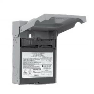 """""Milbank U3862 Fusible Air Conditioner Disconnect Switch 60 Amp, 240 Volt AC, 2-Pole, NEMA 3R,"""""" 120170"