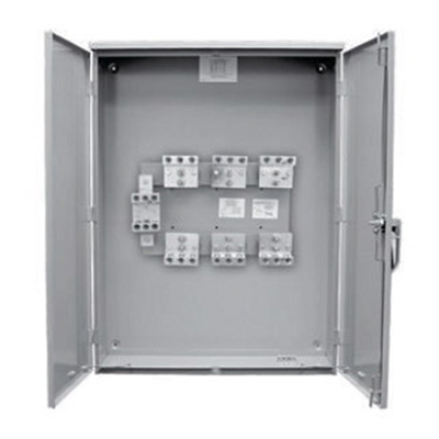 Milbank CT304811-HC-AMS Current Transformer Cabinet; 30 Inch Width x 11 Inch Depth x 48 Inch Height, 800 Amp, Powder-Coated Galvanized Steel, Hinged Cover, Gray