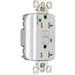 Pass & Seymour 2095-HGTRW GFCI Receptacle; 125 Volt AC, 20 Amp, 2-Pole, NEMA 5-20R, White