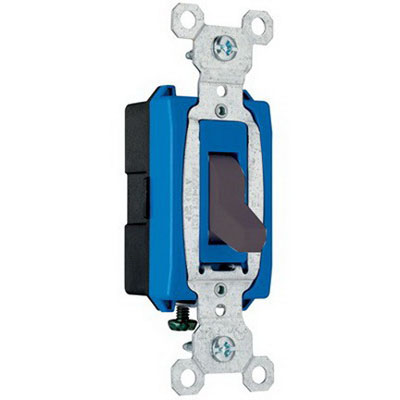 Pass & Seymour CS15AC1-BK Specification Grade Switch; 1 Pole, 120/277 Volt, 15 Amp, Black