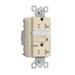 Pass & Seymour 2095-NTLTRI GFCI Receptacle; 125 Volt AC, 20 Amp, 2-Pole, NEMA 5-20R, Ivory
