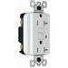 Pass & Seymour 2095-TRWRNAW GFCI Receptacle; 125 Volt AC, 20 Amp, NEMA 5-20R, White