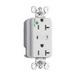 Pass & Seymour 8300-WSP Surge Protective Duplex Receptacle; 125 Volt, 20 Amp, 2-Pole, 3-Wire, NEMA 5-20R, Wall Mount, White