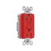 Pass & Seymour 1595-HGRED GFCI Receptacle; 125 Volt AC, 15 Amp, 2-Pole, 3-Wire, NEMA 5-15R, Red