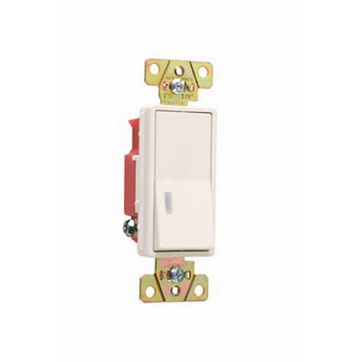 Pass & Seymour 2625-LA Single Pole Decorator Switch 1 Pole  120 Volt AC  20 Amp  Light Almond