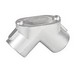 Garvin PE-50 90 Degree Pull Elbow With Rubber Gasket; 1/2 Inch, FNPT, Die-Cast Zinc