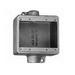 Thomas & Betts FSC222-TB Through-Feed 2-Gang Shallow Cast Device Box; 2 Inch Depth, (2) 3/4 Inch Hub, Gray