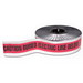 Thomas & Betts NAF-0600 E-Z Code® Backed Foil Detectable Buried Utility Tape; 1000 ft x 3 Inch, Red
