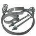 Nichols MK-2 Mast Guying Kit; 1/8 Inch Dia Wire, ASTM A653 12 Gauge Steel Clamp, Galvanized