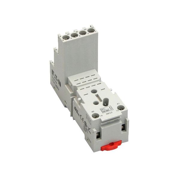 Eaton / Cutler Hammer D2PAP Relay Socket; 300 Volt, 10 Amp, DIN Rail/Panel Mount