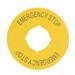Eaton / Cutler Hammer M22-XBK5 Visual Aid Round Legend Plate; Plastic