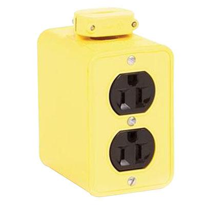 Woodhead / Molex 3080 Super-Safeway Duplex Outlet Box With Coverplate 480 Volt