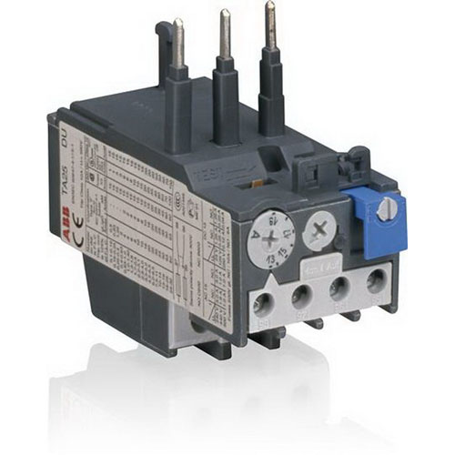 ABB TA25DU14 Thermal Overload Relay; 500 Volt AC, 10 - 14 Amp, 3 Pole, 1 NO/1 NC Auxiliary
