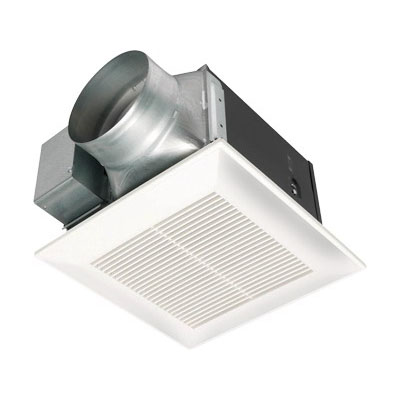 Panasonic FV-15VQ5 Whisper® Super Low Profile Ventilation Fan; 120 Volt, Ceiling Mount, 0.5 Sones At 127 cfm, White