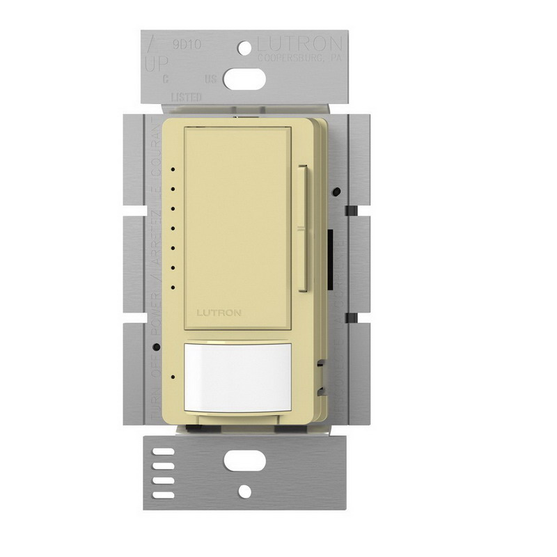 Lutron MSCL-OP153M-IV Maestro® Occupancy/Vacancy Sensor With CL Dimmer; 120 Volt AC, Upto 30 ft x 30 ft Major Motion Coverage and 20 ft x 20 ft Minor Motion Coverage, Ivory, Wallbox Mount