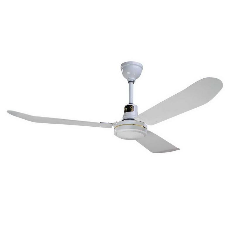 Envirofan 60F-9-277V Extra Heavy Duty Reversing Silver Line Fan; 277 Volt, 0.44 Amp, 21500 cfm, 1 Phase, 320 RPM, 56 Inch Length Blade, Ceiling Mount, White