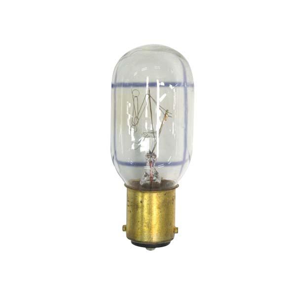 Federal Signal K149123A T8 Miniature Incandescent Lamp; 120 Volt, Miniature Bayonet (BA15D) Base, 1500 Hour Life, Clear