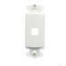 ICC IC107DI1WH Decorex Insert; 1-Port, ABS, White