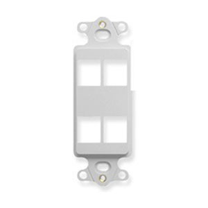ICC IC107DI4WH High Density Decorex Insert; 4-Port, ABS, White