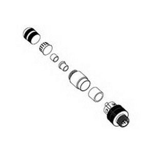Woodhead / Molex 120100-0001 Micro-Change® Brad® 5 Pole Straight Field Attachable Pin Connector; 4 Amp, 250 Volt