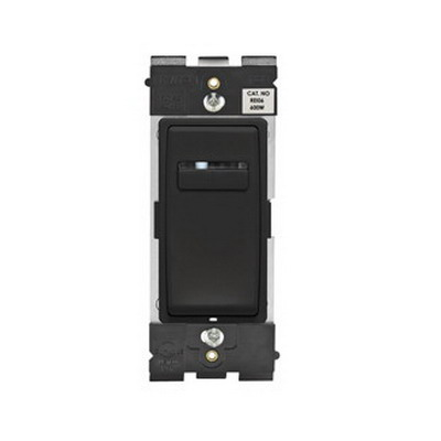 Leviton REI06-OB Renu® Digital Dimmer With LED Locator and Brightness Display; 120 Volt AC, 600 Watt, Incandescent, Onyx Black
