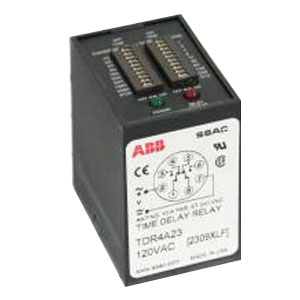 ABB TDR4A23 Digi-Set Solid State Time Delay Relay; 120 Volt AC, 8 Pin, DPDT, ON Time: 1 - 102.3 sec in 1 sec Increments, OFF Time: 1 - 1023 sec in 1 sec Increments Timing Range