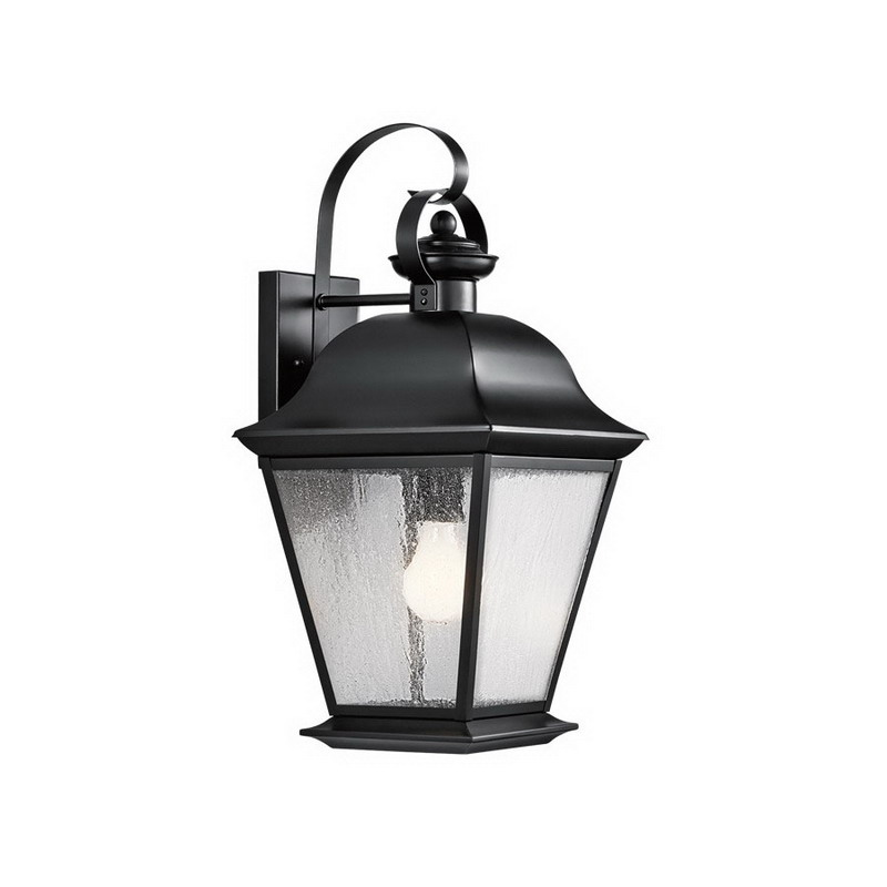 Kichler 9709BK Mount Vernon Collection 1-Light Outdoor Fixture Painted Black