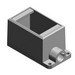 Thomas & Betts FD1-TB Dead End 1-Gang Cast Device Box; 2.812 Inch Depth, (1) 1/2 Inch Hub, Gray