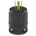 Leviton 5266-B 3 Wire 2 Pole Straight Blade Plug; 15 Amp, 125 Volt, Black, 10 Per Box