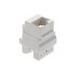 On-Q WP3458-WH Wallplate/Strap Mount Category 5e Keyed Keystone Connector; RJ45 Male, 8P8C, White