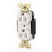 Cooper Wiring AH5362W ArrowHart™ Straight Blade Duplex Receptacle; 125 Volt, 20 Amp, 2 Pole, 3 Wire, White