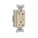 Pass & Seymour 2095-HGNAI GFCI Receptacle; 125 Volt AC, 20 Amp, 2-Pole, NEMA 5-20R, Ivory