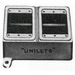 Appleton FD-2L Unilet® Multiple Cover 2-Gang Box; 2.690 Inch Depth, Lug Mount, Gray