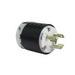 Pass & Seymour (LeGrand) L1130-P Turnlok® 3 Wire 2 Pole Plug; 30 Amp, 250 Volt AC, Black/White