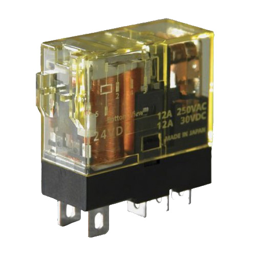 Idec RJ1S-C-A120 RJ Series Slim Power Relay; 120 Volt AC, SPDT, 1 Pole