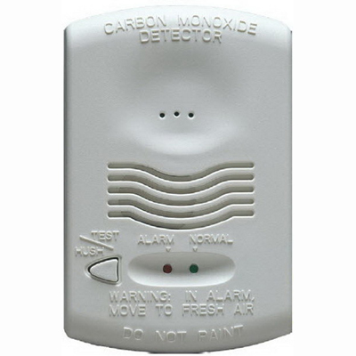 """""Fire-Lite Alarms CO1224T RealTest Conventional Carbon Monoxide Detector 12/24 Volt DC, 1-Gang Back Box/Surface To Wall/Ceiling Mount, White,"""""" 501794"