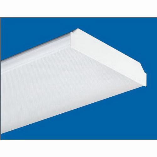 H.E. Williams 18-4-432-A-QS-EB2*ADBD-UNV Low Profile Wraparound Fixture; 120 - 277 Volt, 128 Watt, 4-Lamp, Clear Diffuser, Surface/Suspended Mount
