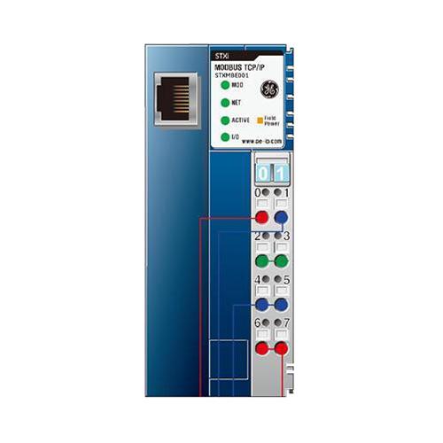 GE Fanuc STXMBE001 RSTi PacSystem Series RSTi Modbus TCP/IP Slave Network Adapter; 24 Volt DC, 60 Milli-Amp