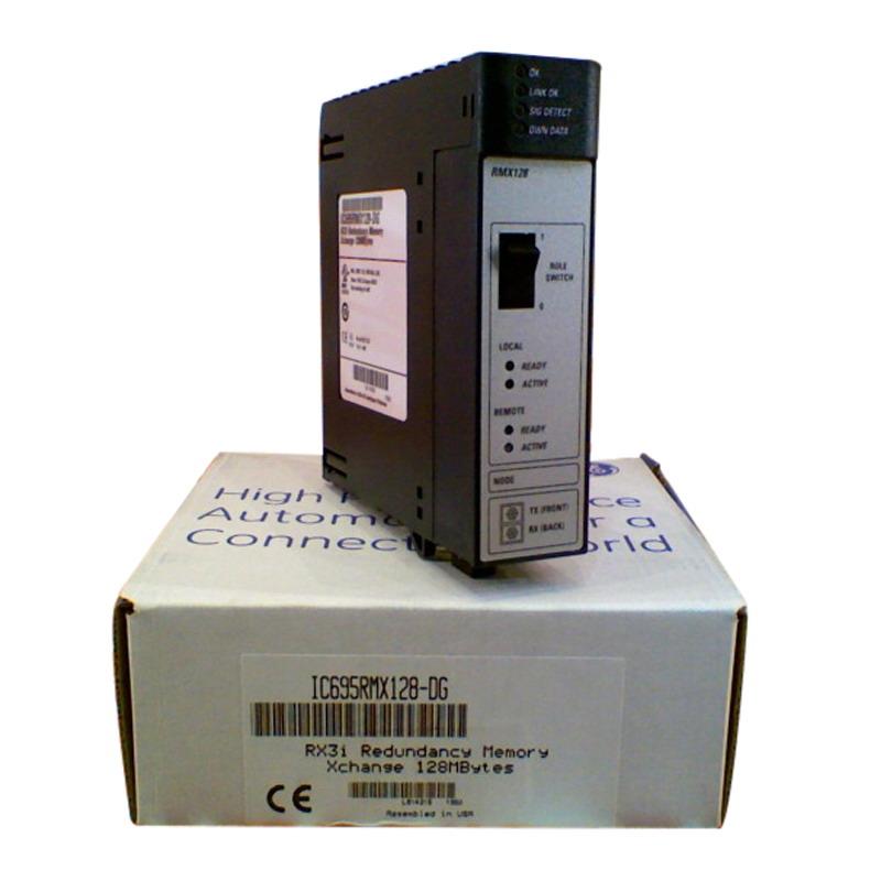 GE Fanuc IC695RMX128 High Availability Data Synchronization Link RX3i Control Memory Xchange Module; 660/253 Milli-Amp
