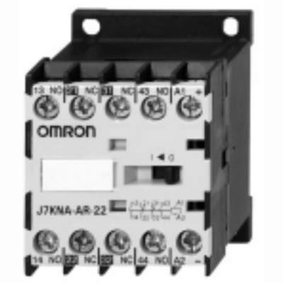 Omron 12010-4040 J7KNA-Ar-40-24VS DC Solenoid Operated Mini Contactor Relay With Diode; 24 Volt DC, 4 NO, 4 Pole, 10 Amp