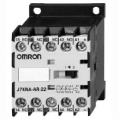 Omron 12010-4231 J7KNA-Ar-31-110 AC Operated Mini Contactor Relay; 110 - 115/120 - 125 Volt, 3 NO/1 NC, 4 Pole, 10 Amp